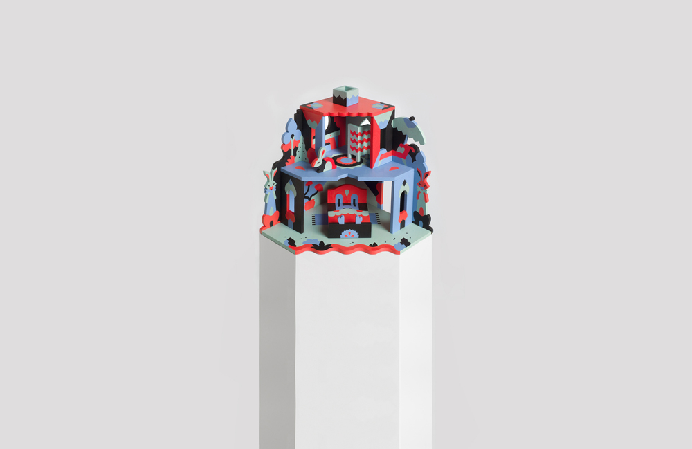 BUNNYHOUSE    NOOKS is a collection of unique dollhouses, handmade and painted in Finland. Geometrical simplicity meets bold colours and fantastical stories, elevating the standard of toys into interactive sculptures enjoyed by big and small.
