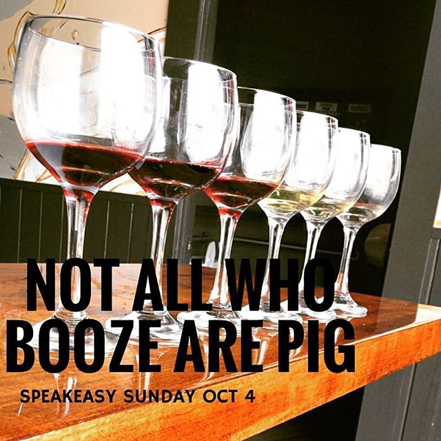 Booze Pig is hosting Speak Me this Sunday Oct. 4th @eatmespeakme. 25% of proceeds go to our friends @thegivingkitchenatl. Stay tuned for more info. #weloveatl #boozepig #speakeasysunday #johnmayer #winenot