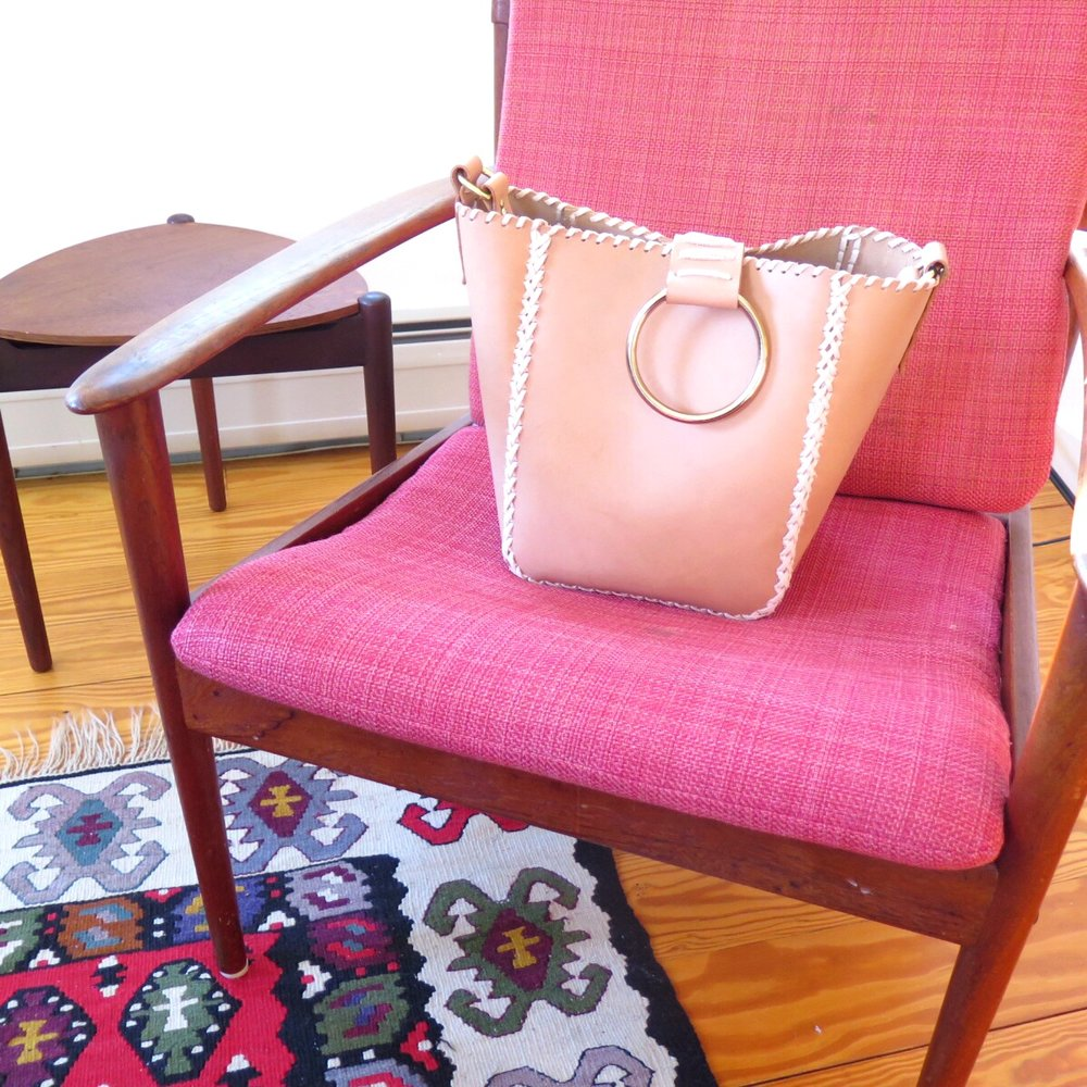 Mary Savel Nude Knocker Tote on Chair