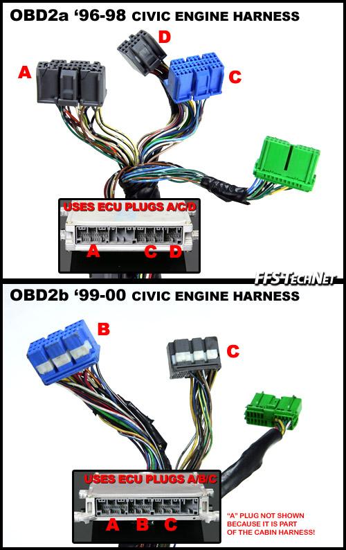 92 00 engine swap wiring the sixth gen rh sixwerks com obd2 vtec wiring vtec wiring diagram obd2