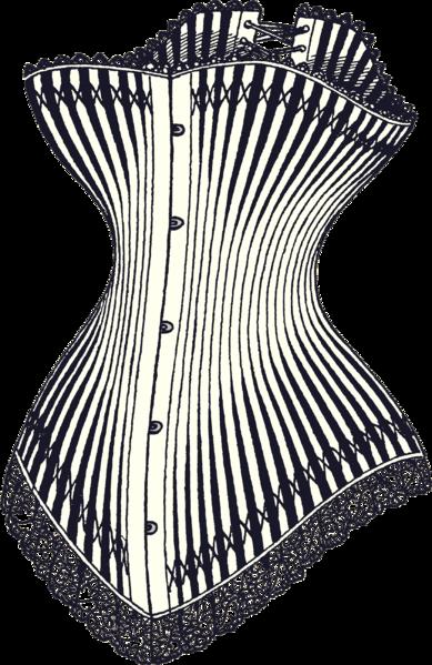 Corset Illustration, ca 1878