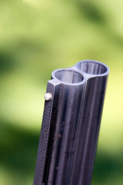 "A rifle barrel. Remixed from ""Shoot for Hope 2"" by Renee Viehmann, CC-BY."