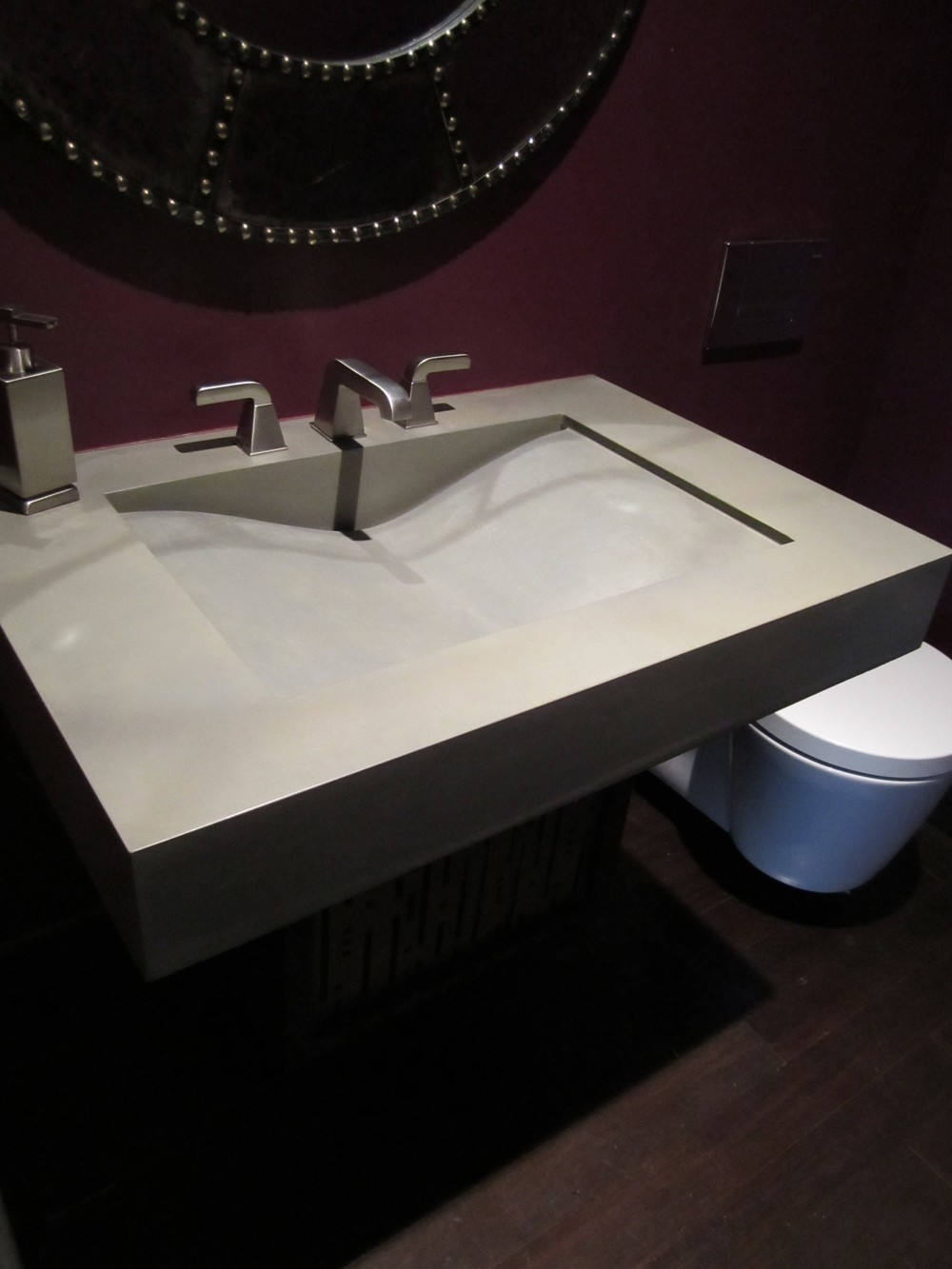 Single Wave Concrete Sink