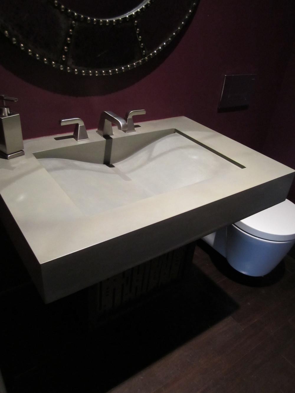 Single Wave Concrete Sink