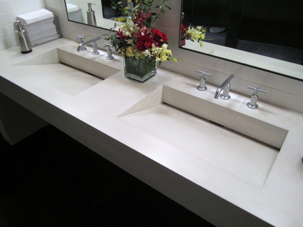 Double Concrete Ramp Sink