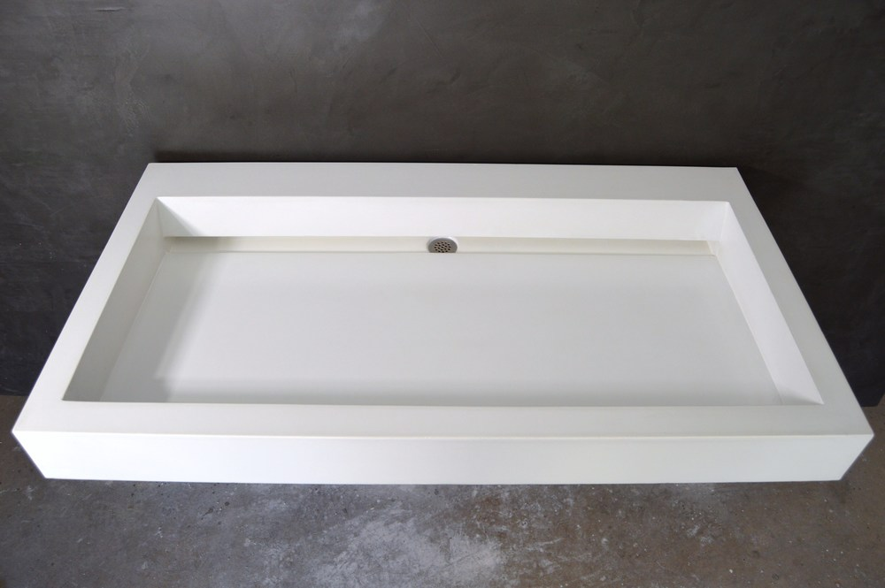 Slim Trough Concrete Sink