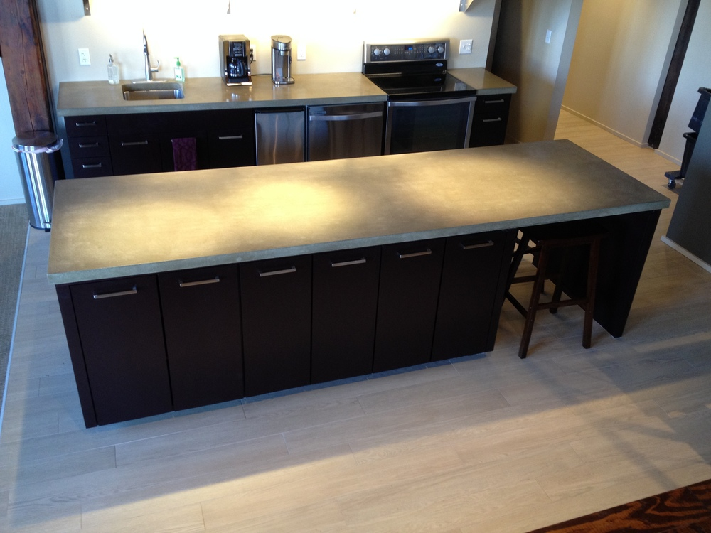 Loft Kitchen Concrete Countertop