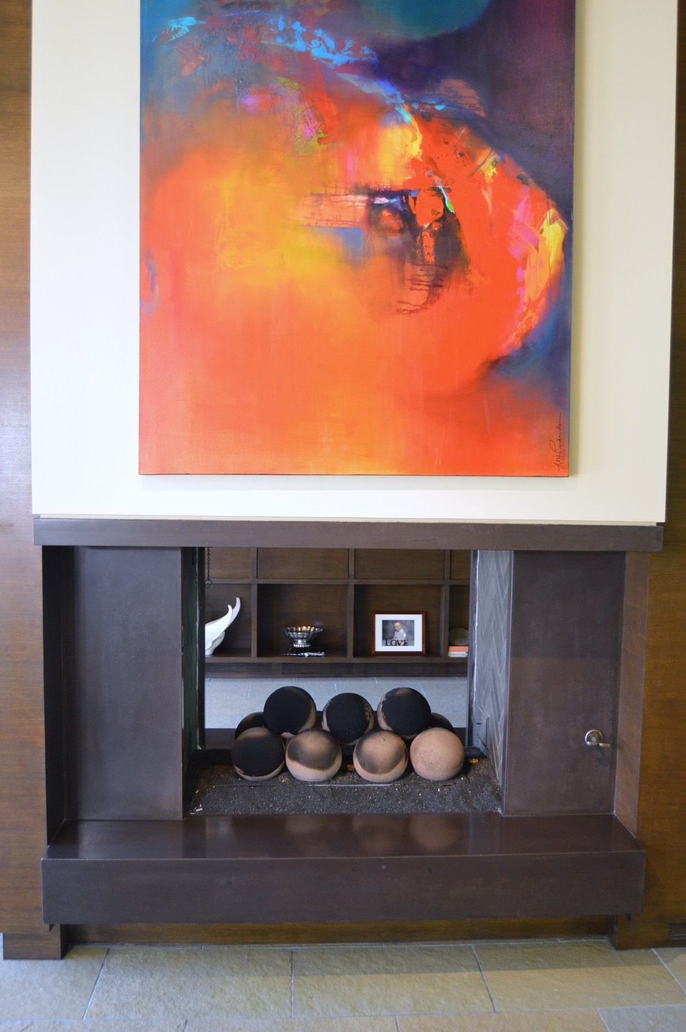 Floating Concrete Fireplace Surround