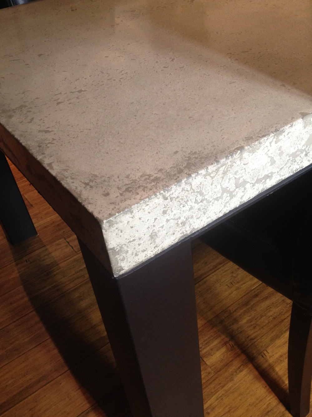 Dry-Packed Concrete Tabletop