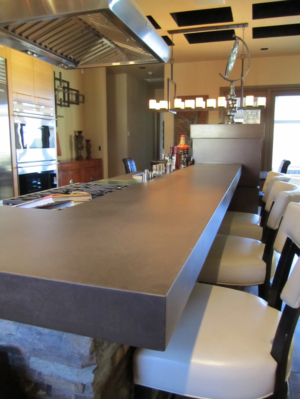 Concrete Kitchen Bar Top