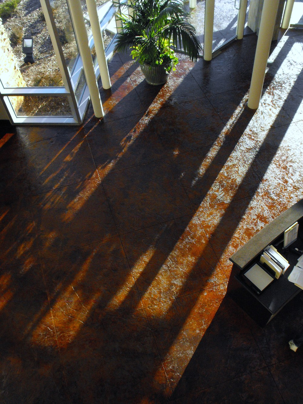 Acid Stain and Sealed Concrete Flooring