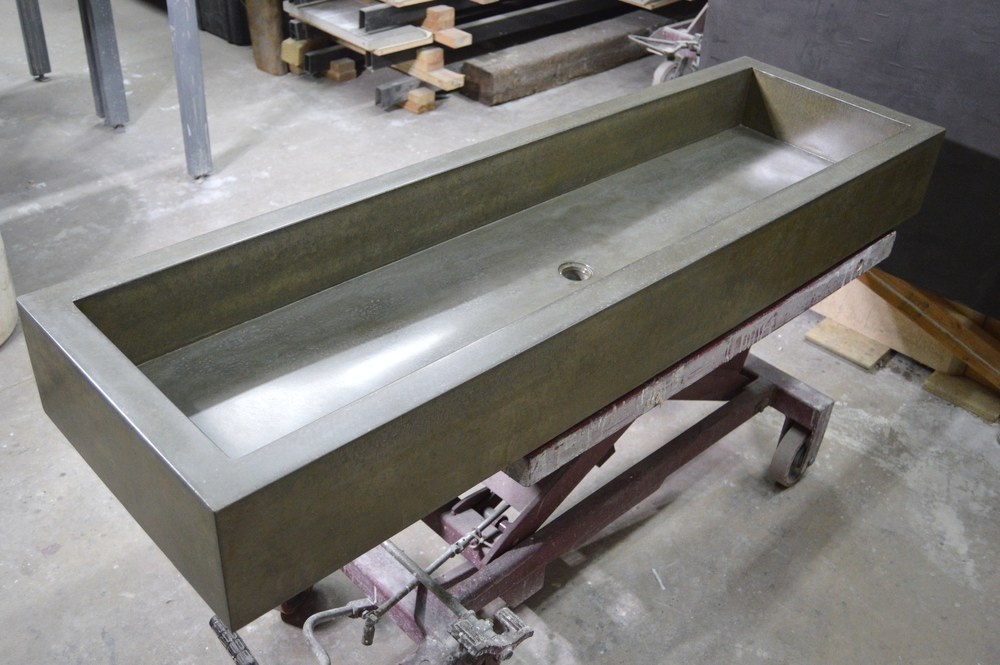 Large Concrete Trough Sink