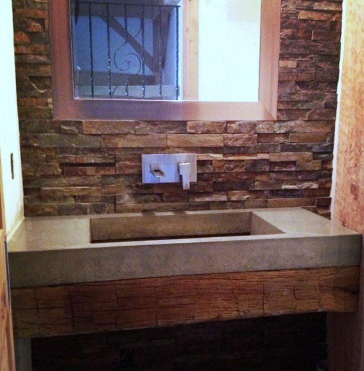 Rustic Concrete Ramp Sink