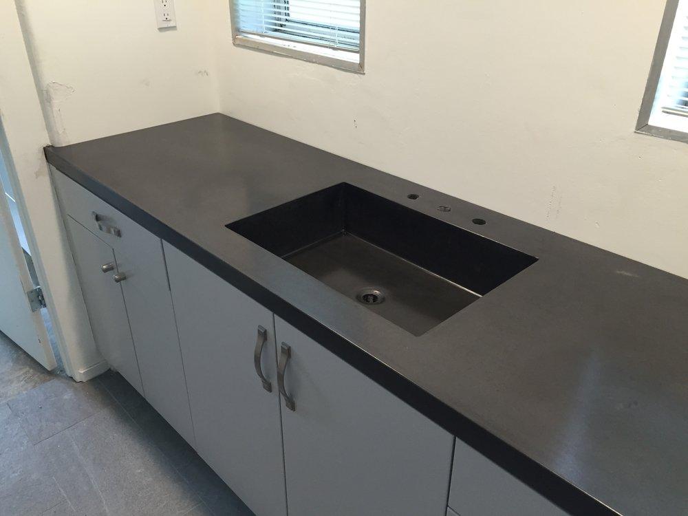 Integral Concrete Trough Sink