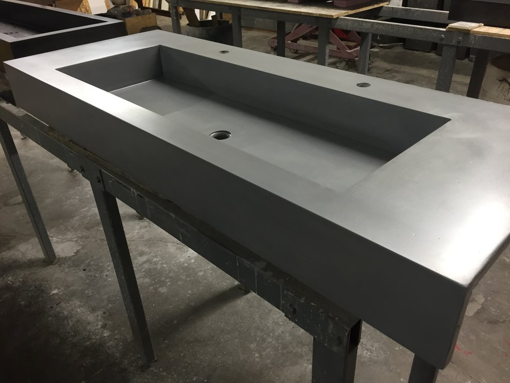 Concrete Trough Sink with Apron
