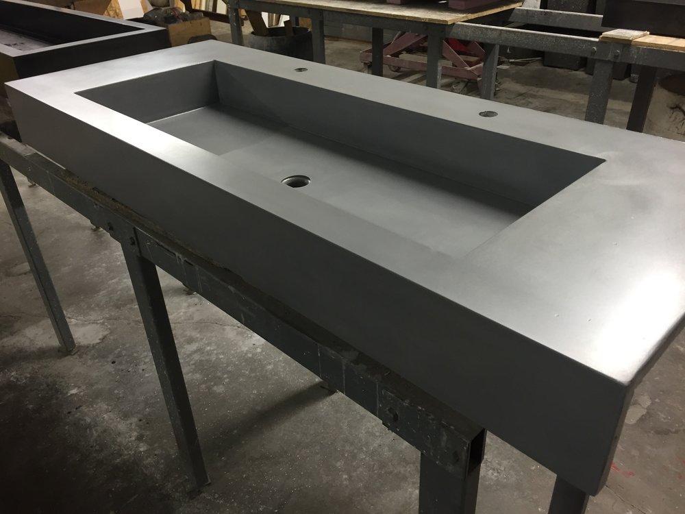 Concrete Trough Sink with Apron