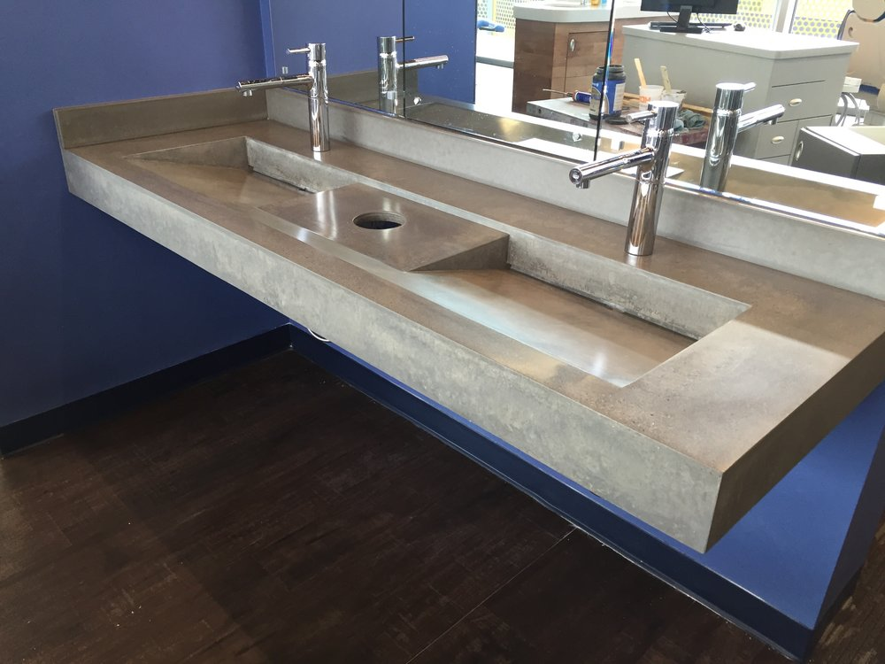 Concrete Ramp Sink