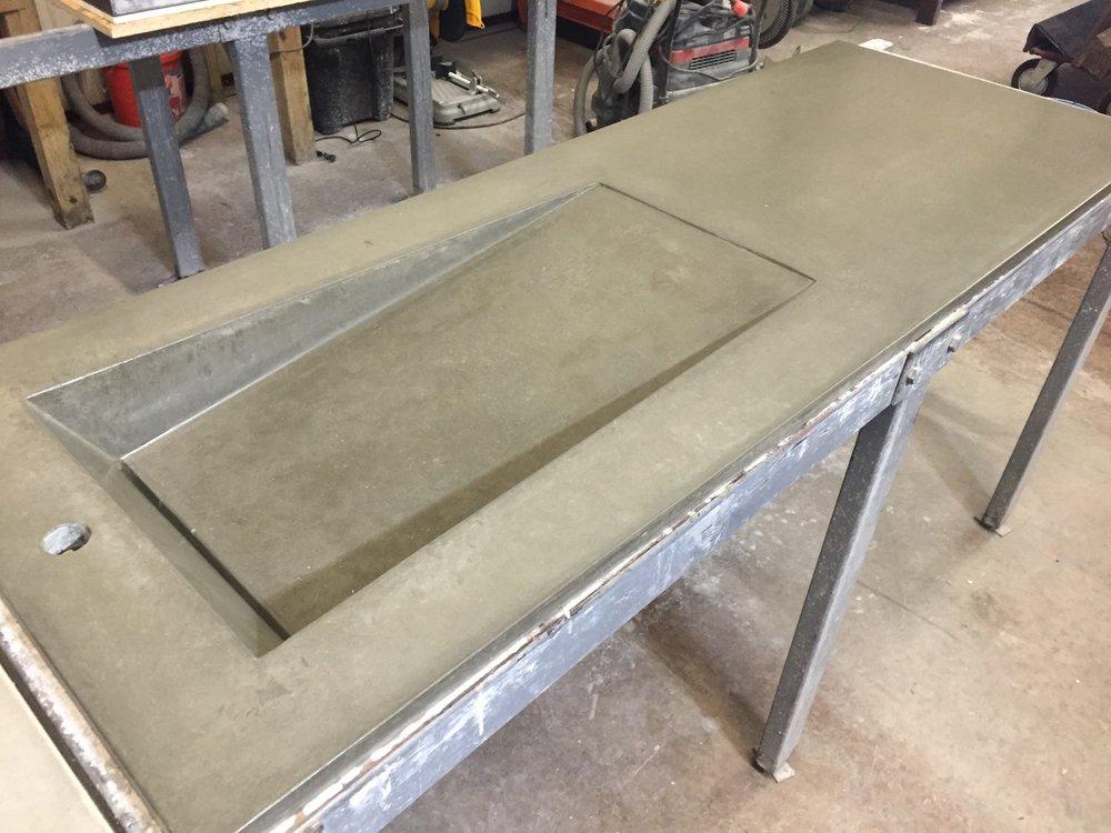 Concrete Side Ramp Sink