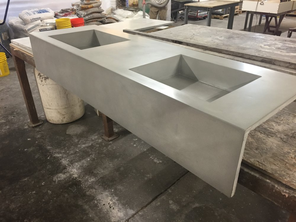Double Trough Sink with Apron
