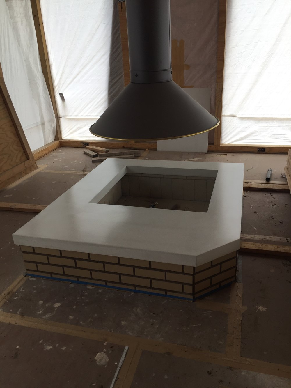 Concrete Fire Pit Surround