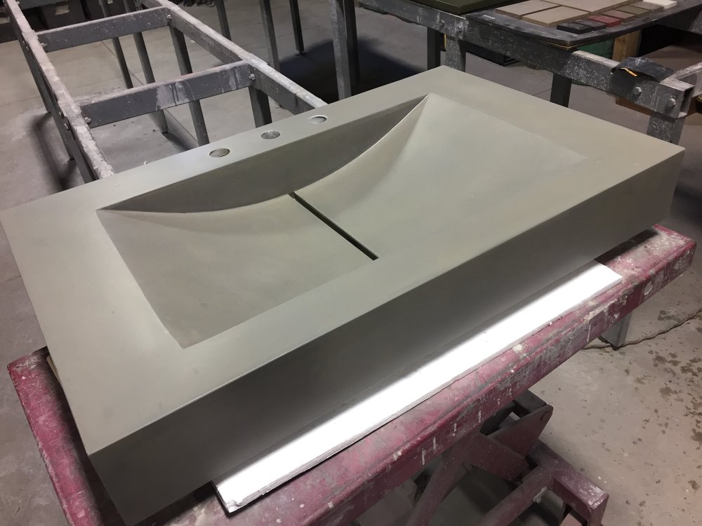 Concrete Barrel Sink