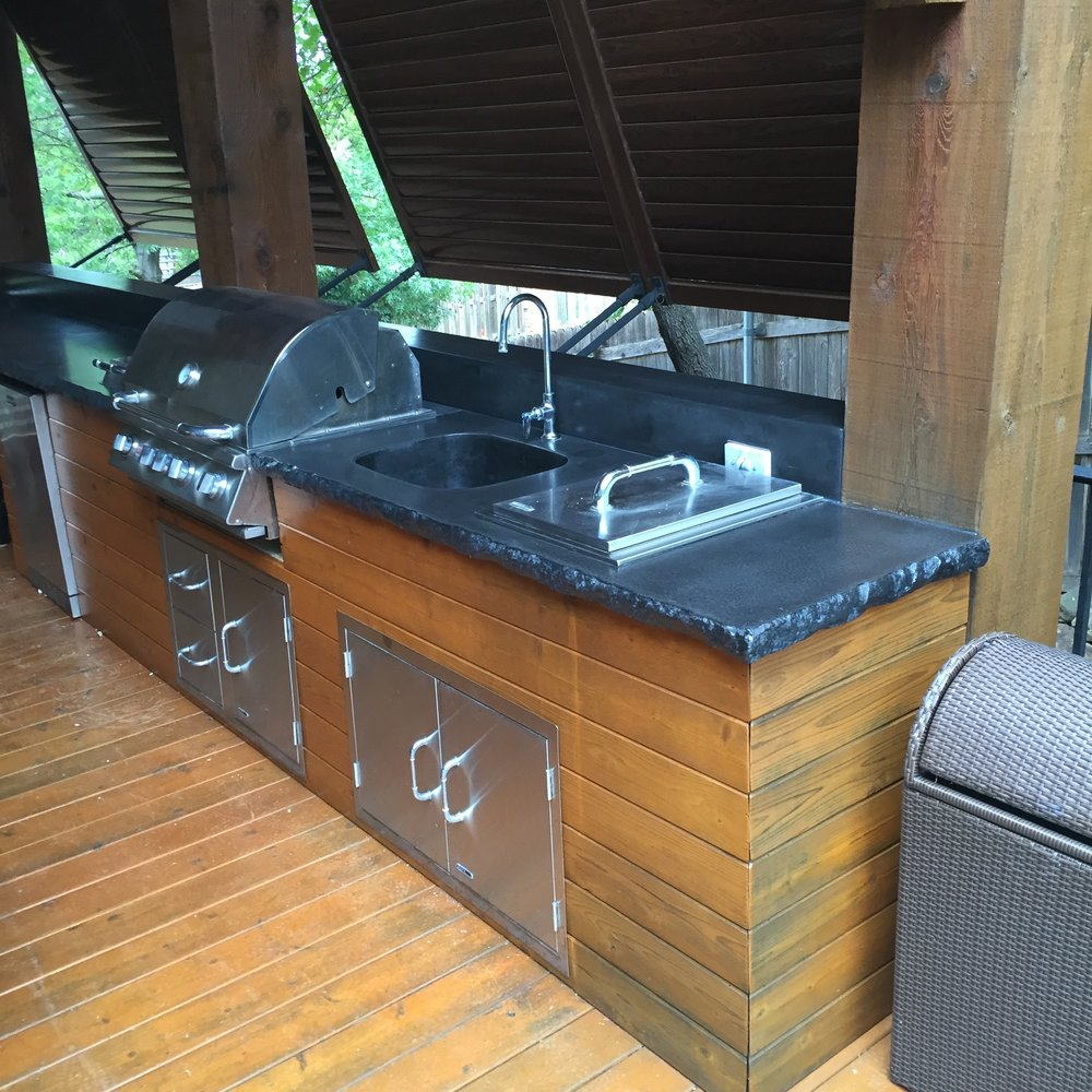 Outdoor Concrete Kitchen Countertops
