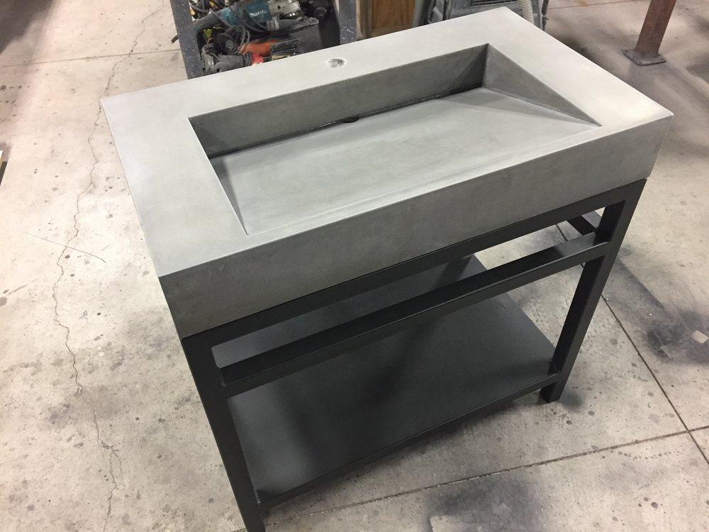 Ramp on Steel with Towel Bar