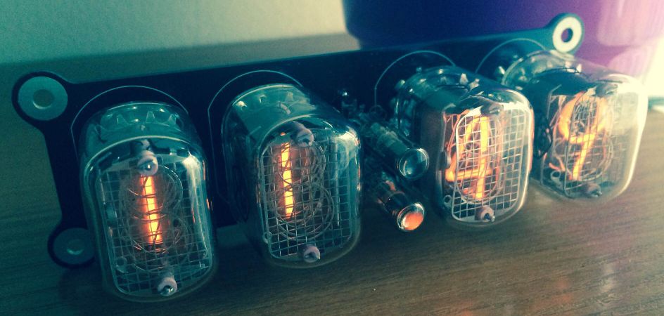 Nixie clock built by (and image copyright) Tomasz Watorowski, 2014.