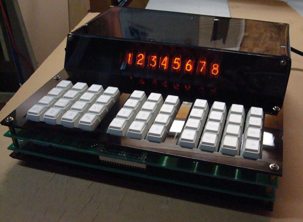 Nixie calculator project (and image copyright) Spike Tsasmali, 2010.