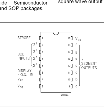 Pinout from the datasheet.