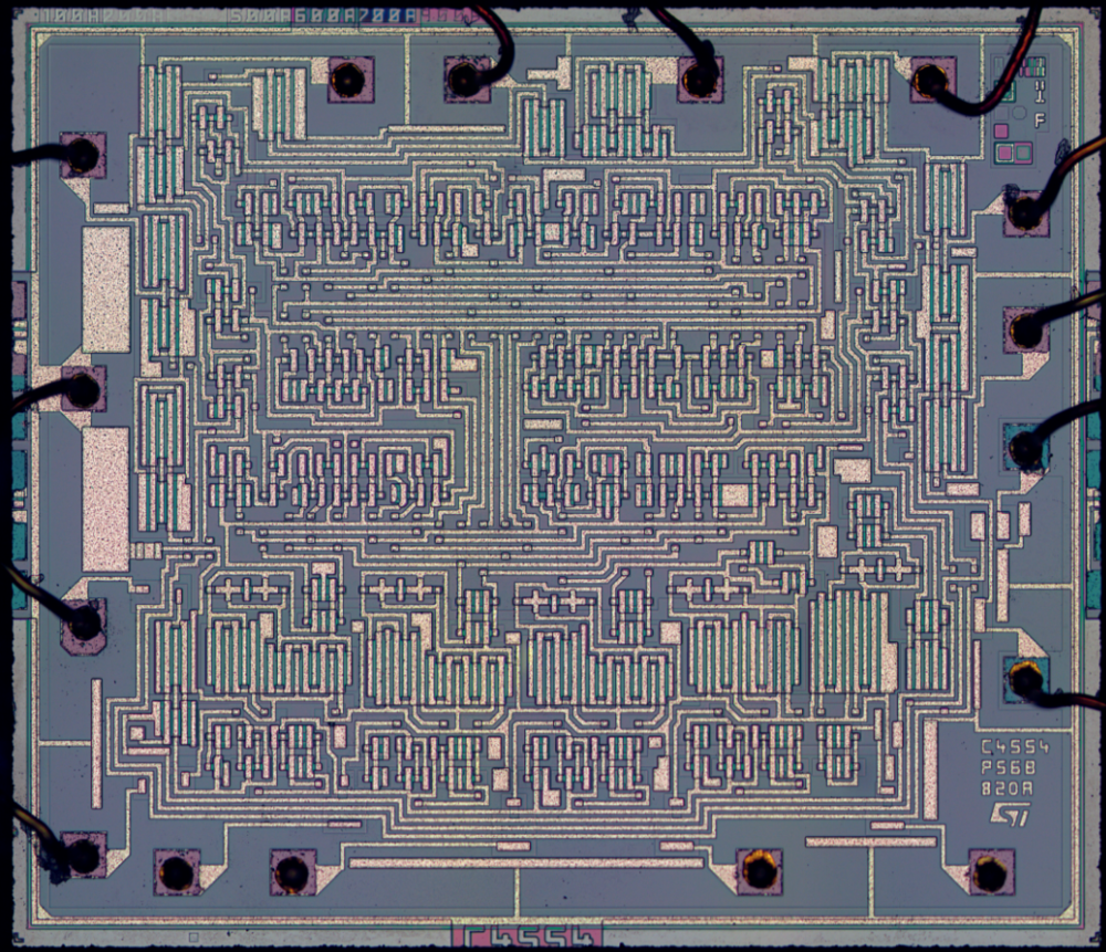 Reverse Engineering An Hcf4056 Bcd To 7 Segment Decoder Driver Chip Sevensegment With A Seven Led Display From Its Die Photo The Half Baked Maker