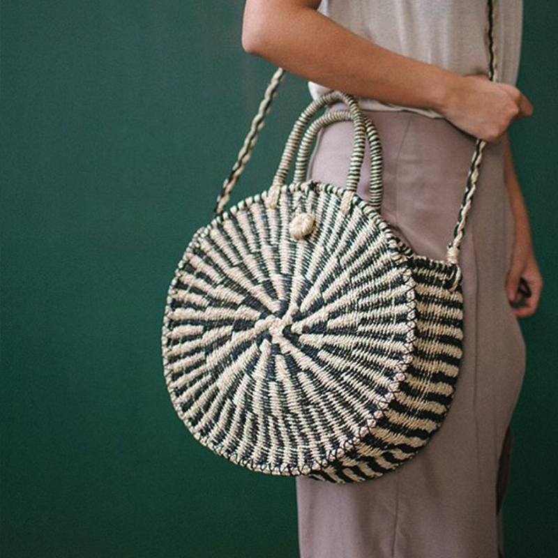 Abaca - Handwoven bags, baskets and textiles that showcase the intricate handiwork of women in Africa, East Asia, India, to name a few. The line combines the best of traditional arts with a modern aesthetic, and a portion of all proceeds help break the cycle of poverty for Filipino children.