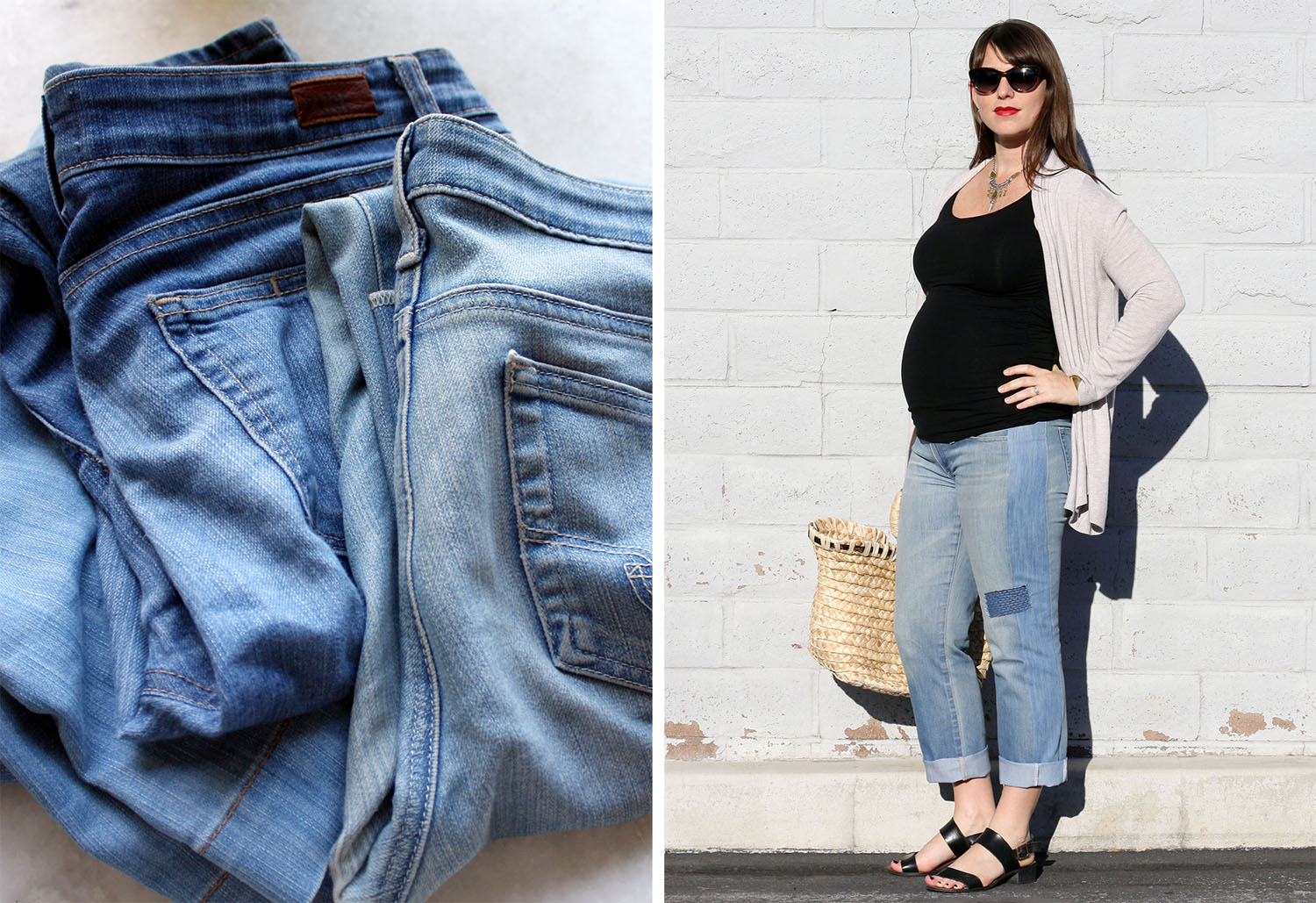 refashioners 2016: diy maternity jeans — birds of a thread