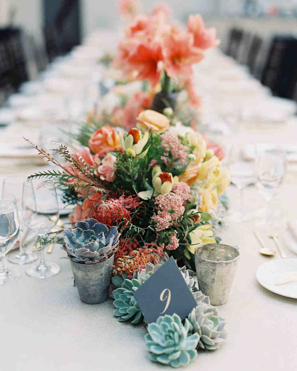 Sustainable Wedding Ideas: Succulent Centerpiece