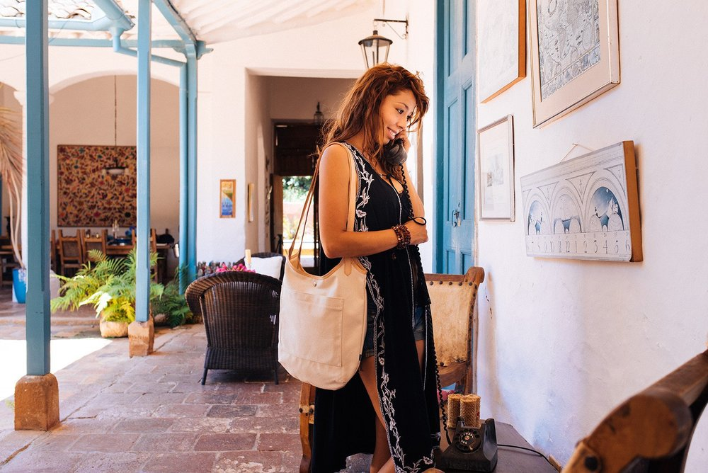 Stylish recycled tire and canvas bags - Cyclus