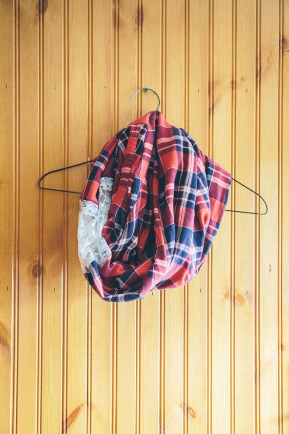Upcycled DIY Flannel Scarf