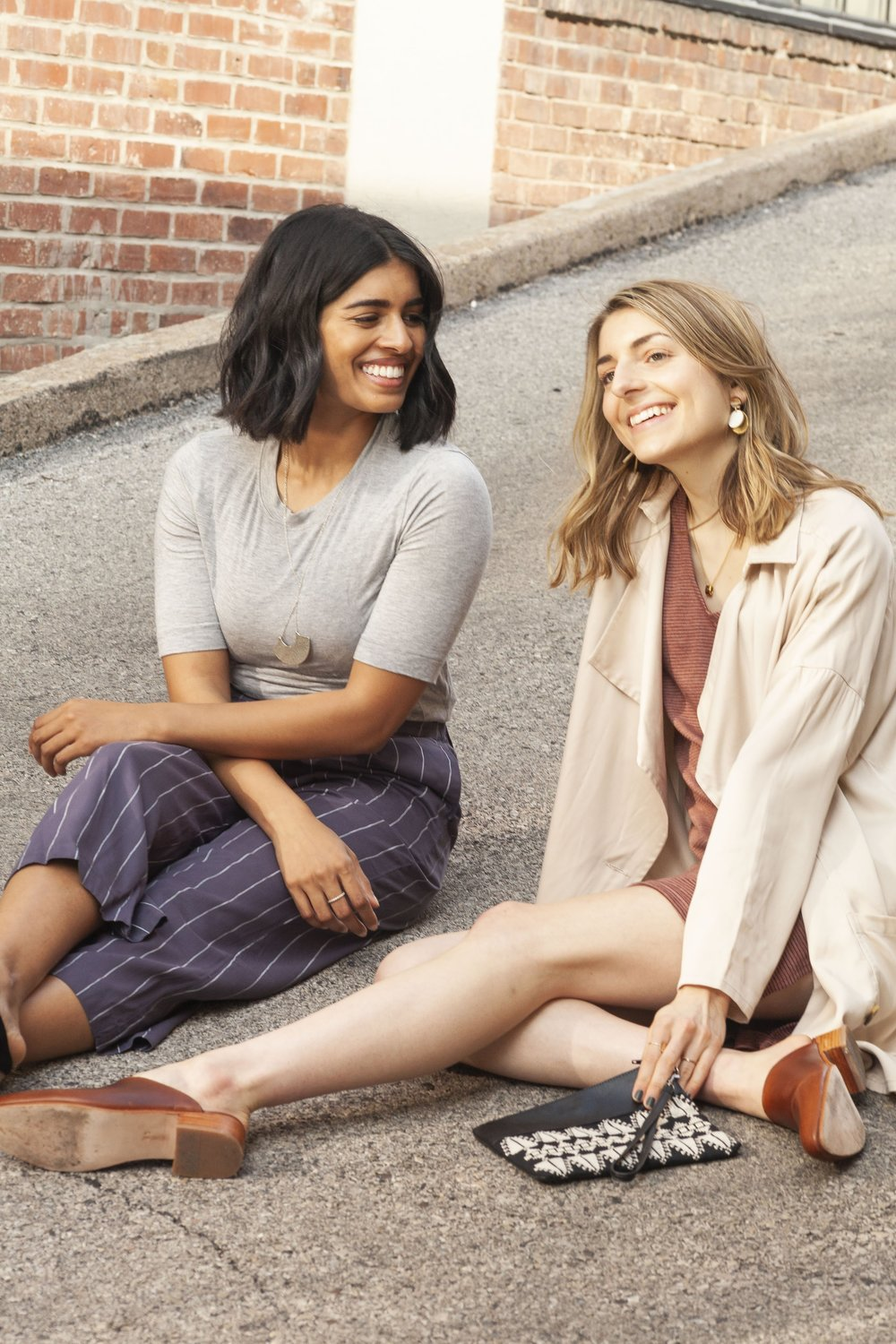 """""""We're firm believers that if you don't love an item, you shouldn't be buying it. Why buy a boxy sage green blouse if you love the bright floral fit-and-flare dress so much more?"""" -"""