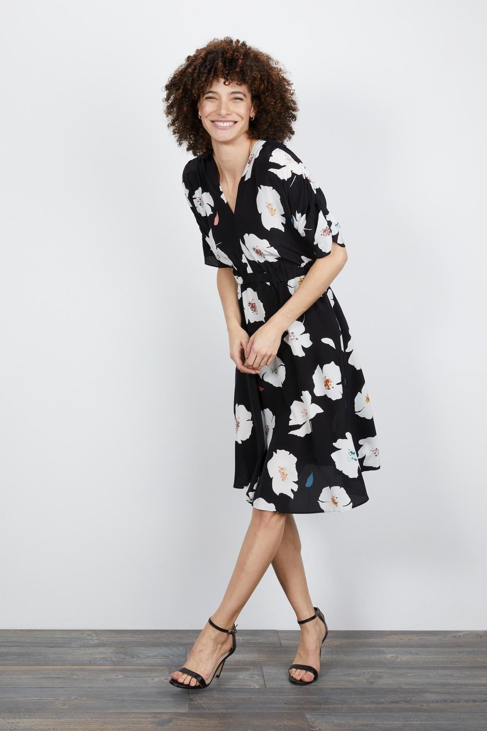 Tucker Shadow Flower Market Dress - Tucker is a new brand on my radar. They're on the pricier side, but the materials and fit appear to be top-notch (I've never purchased anything from them, so reviews are welcome!). This dress is 100% crepe-de-chine and made in Tucker's own factories, which allows them to monitor working conditions, pay all of their staff a living wage, reduce waste and over-production, and generally work toward more sustainable manufacturing.