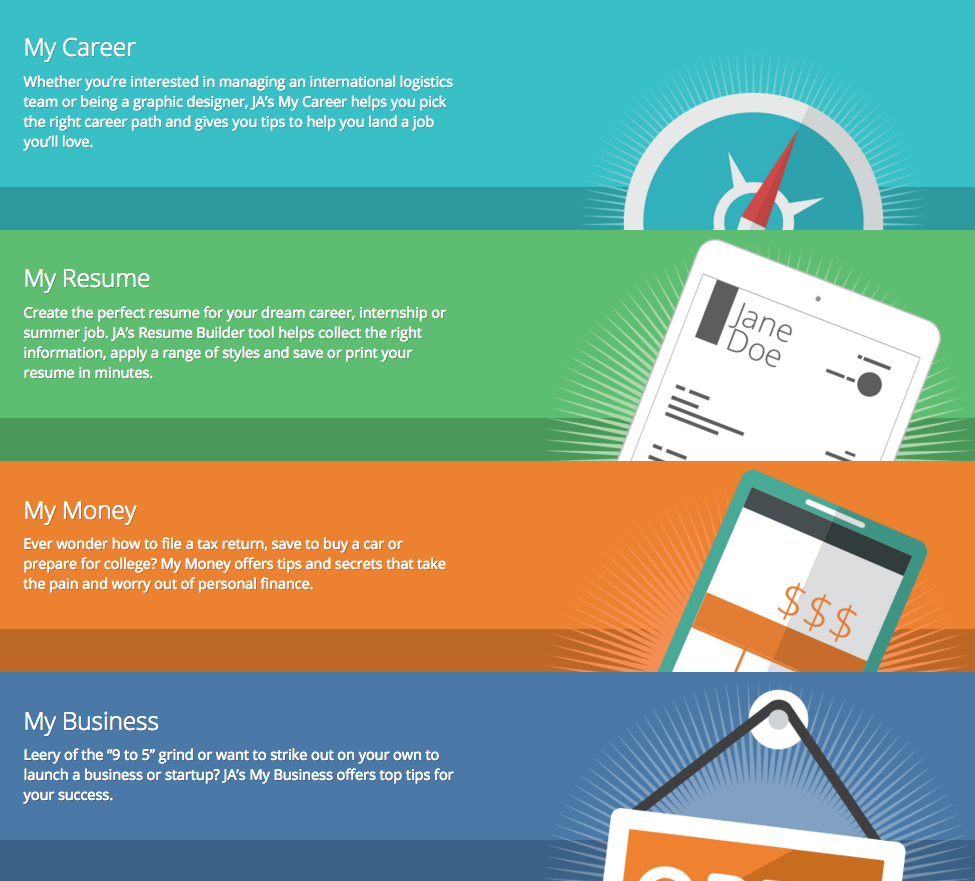 junior achievement usa and robert half launch online resume center