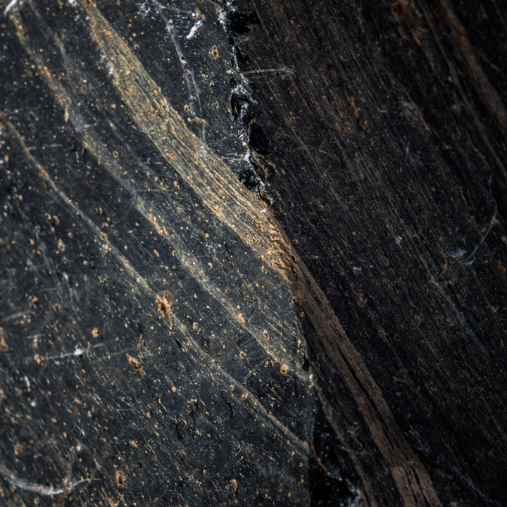 RH OBSIDIAN   Obsidian is formed when molten lava cools rapidly, sometimes mixing with other materials in the process. These photographs are abstracted geological studies of outcroppings where this mixture is at its most dramatic and subtle.