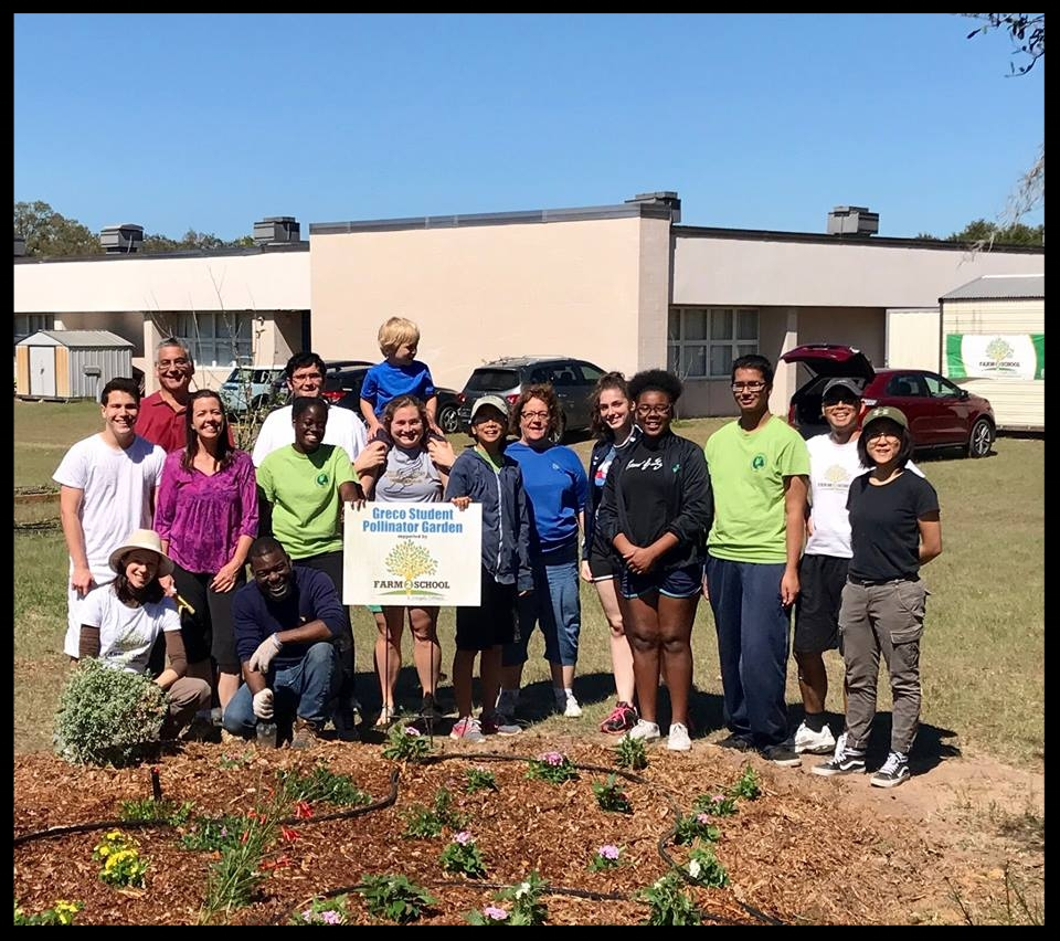 TTF2S volunteers spruce up the Pollinator Garden January 2018.