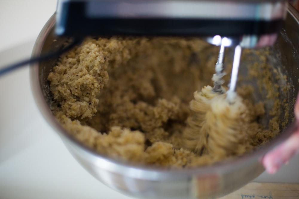 3. Add in 1 lb. ground walnuts.