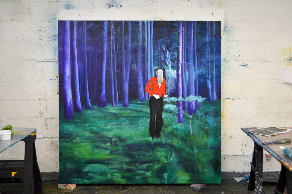 Into the Forest. No.01. Oil on Canvas. 200 x 200 cm. 2014-Present. Work in Progress