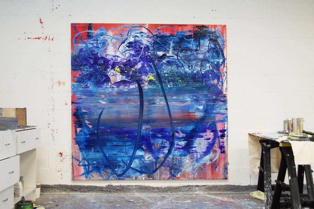 Robert West. Borderline Series. Abstract Painting No.75. Oil on Canvas. 200 x 200 cm. 2013-2014. 12.jpg