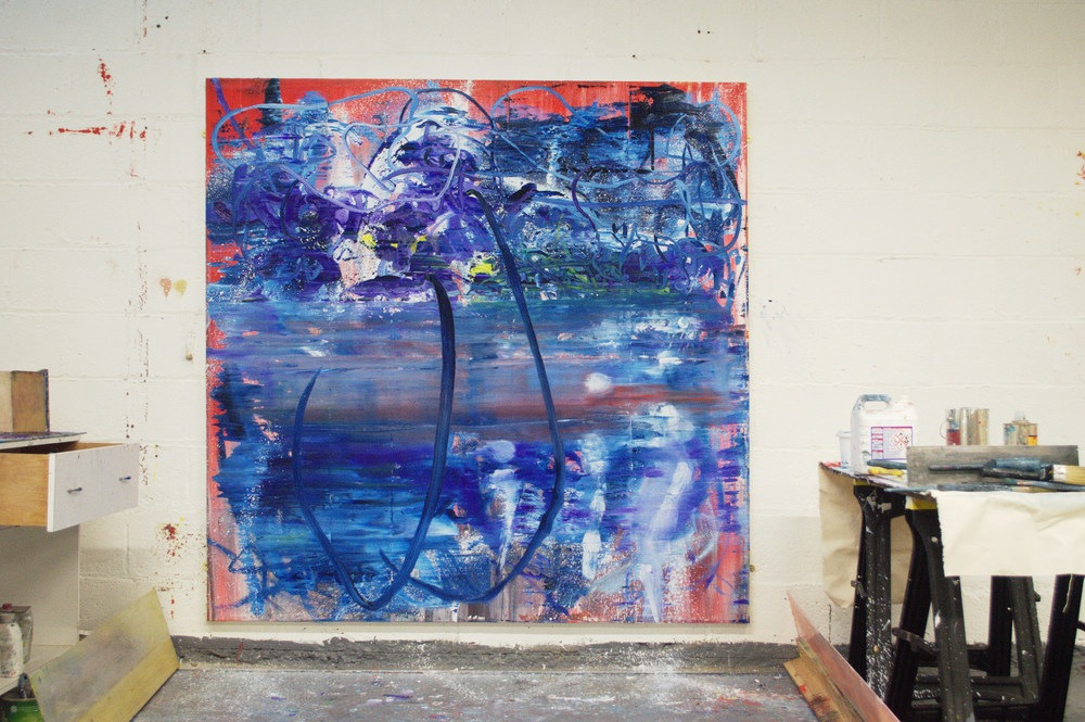 Robert West. Borderline Series. Abstract Painting No.75. Oil on Canvas. 200 x 200 cm. 2013-2014. 13.jpg