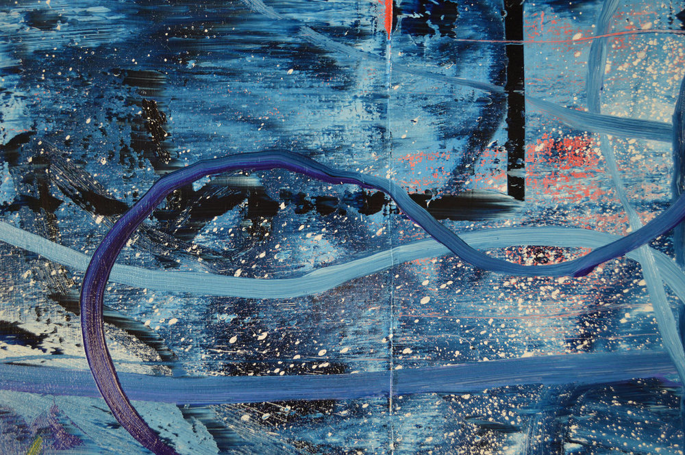 Robert West. Borderline Series. Abstract Painting No.75. Oil on Canvas. 200 x 200 cm. 2013-2014 -  Close Up 07.jpg