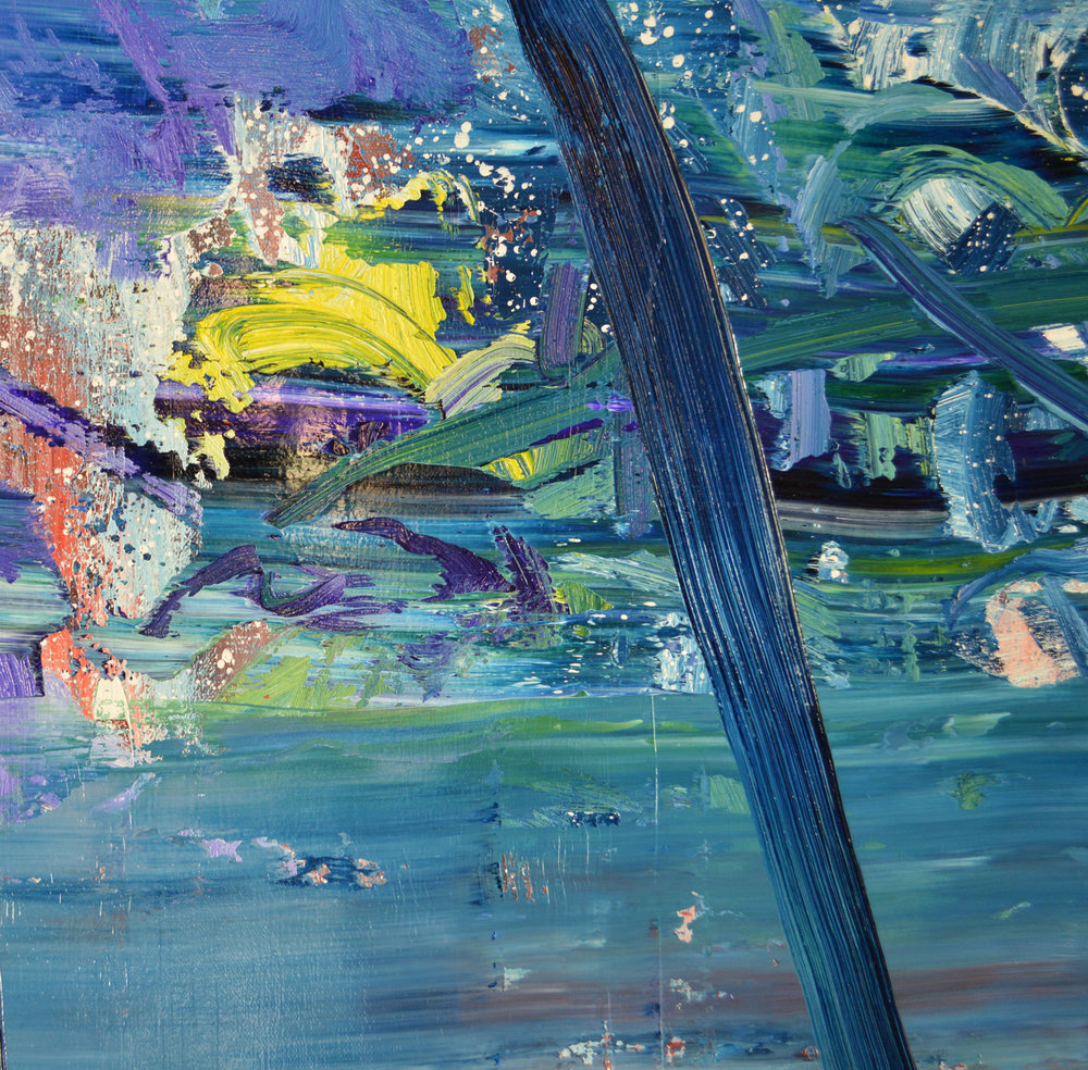 Robert West. Borderline Series. Abstract Painting No.75. Oil on Canvas. 200 x 200 cm. 2013-2014 -  Close Up 13.jpg