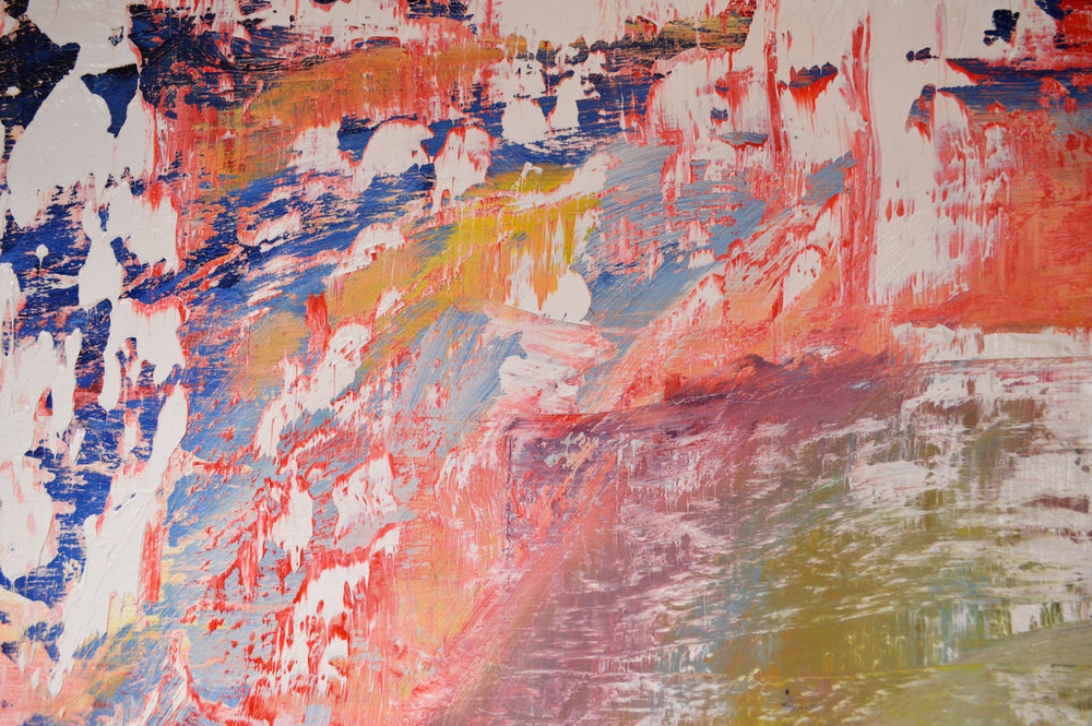 Robert West. Abstract Painting. No.76. Oil on Polyester. 200 X 200 cm. 2017_Close Up_01.jpg