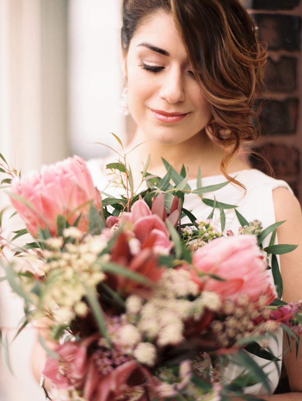 Organic wedding bouquet