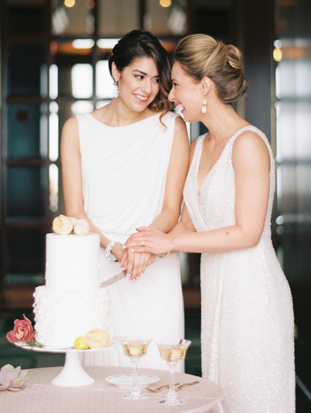 Same Sex cake cutting